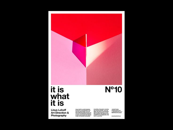 »It is what it is« Poster Series on Behance