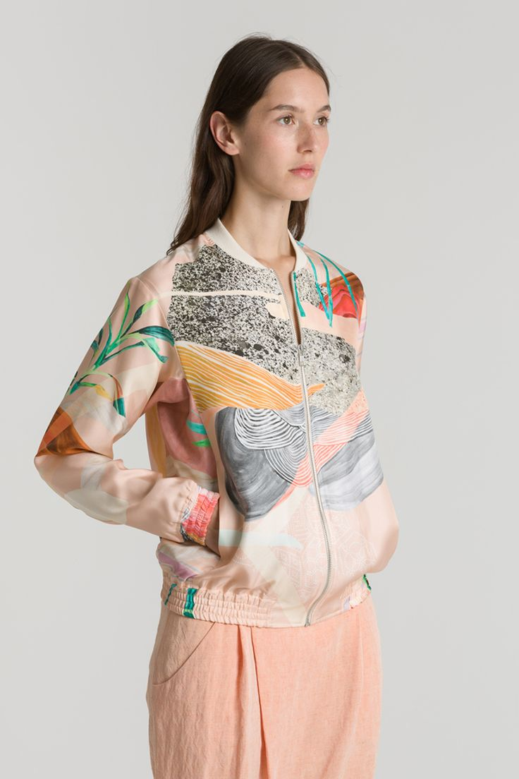 Lene Jacket, pink pattern | Reality Studio S/S 2014