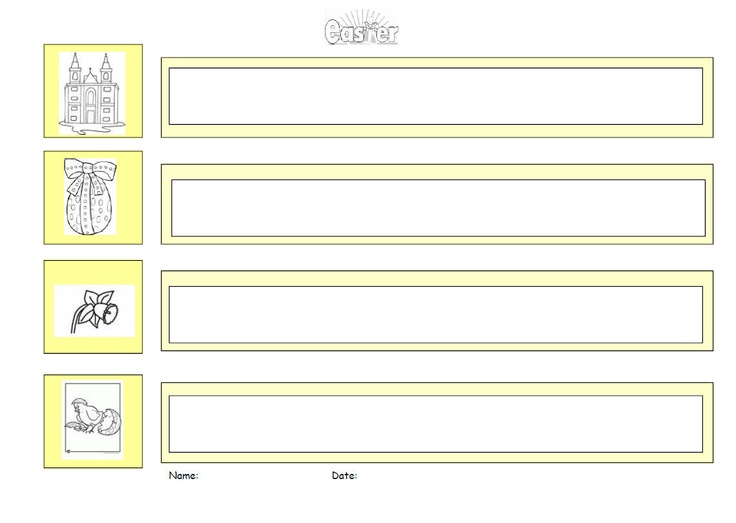 A graphic organiser to help pupils to write down their ideas and key words to do with Easter.