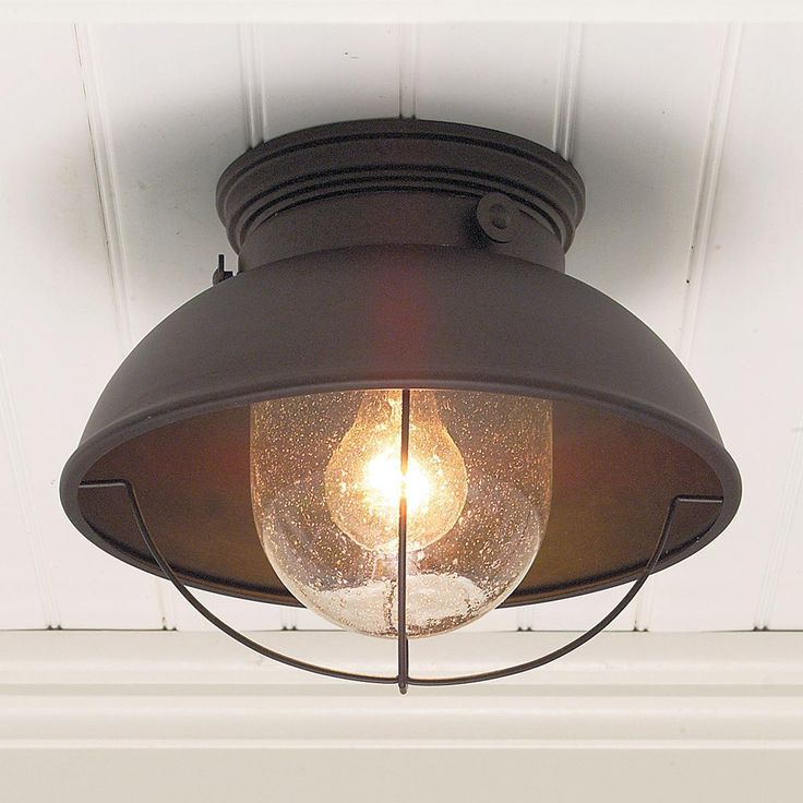 Nantucket Ceiling Light 3 Colors : Antique Copper. Can be in the kitchen or in the bathroom