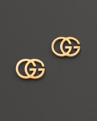 Modernist 18K yellow gold Gucci studs earrings.