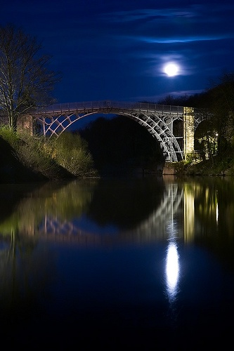 "The Iron Bridge, England! Known as -""Birthplace of the Industrial Revolution"" I grew up near here- Jen, IndustrialEnvy.com"