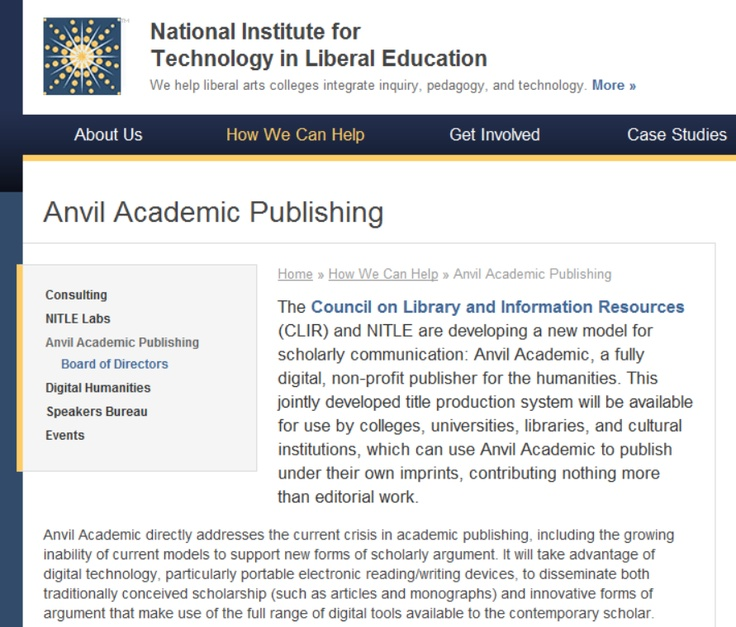 43 best information retrieval images on pinterest bookshelf ideas new alternative scholarly publisher run by nitle and clir in the united states fandeluxe Image collections