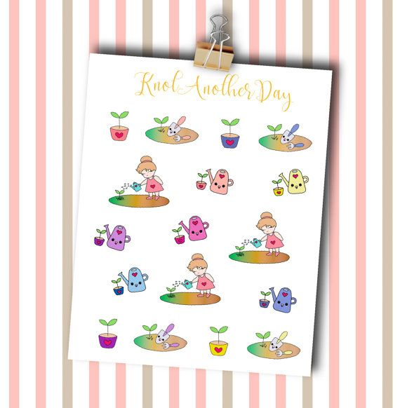 MISUs Garden Planner Stickers by KnotAnotherDay by KnotAnotherDay