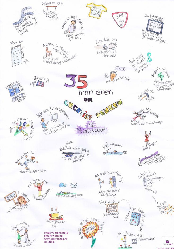 35 manieren om creatief denken te stimuleren daily creativity made by Suzan van Delft Perron Zes