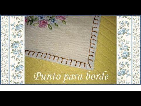 ♥ Como hacer un punto para borde de mantel ♥ Puntos de bordado ♥ N°5 ♥
