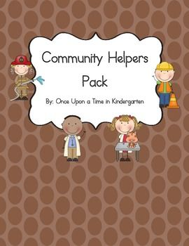 """Community Helpers Literacy Pack is the perfect addition to your social studies unit on Community Helpers. This pack includesEmergent ReaderWord Wall Cards2 Labeling SheetsIdentifying Community Helper VehiclesClass BookDolch Sight Word Worksheets for """"i"""" and """"am""""."""