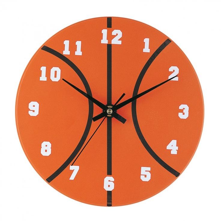 Lite Source Basketball Clock in Orange