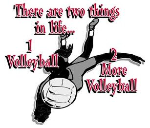 all about volleyball, this would be my daughter Brittany!!