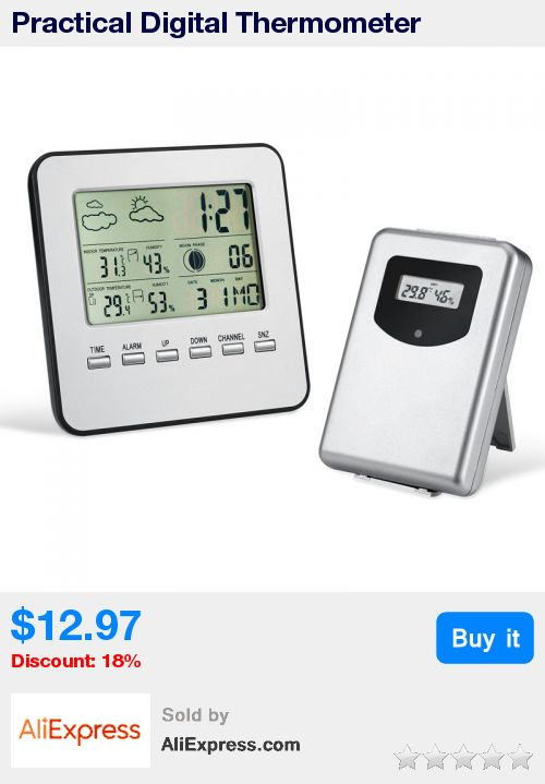 Practical Digital Thermometer Hygrometer+Remote Sensor with Display Temperature Humidity Weather Forecast Time Date Alarm Clock * Pub Date: 12:26 Jul 4 2017