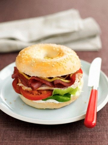 Bagel Sandwich!  Come to Bagels and Bites Cafe in Brighton, MI for all of your bagel and coffee needs!  Feel free to call (810) 220-2333 or visit our website www.bagelsandbites.com for more information!