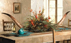 Large Two Horn Floral Arrangement - This would look so good on my dining room table.