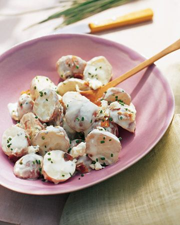 Red Bliss Potato Salad with Blue Cheese, Bacon, and Chives Recipe