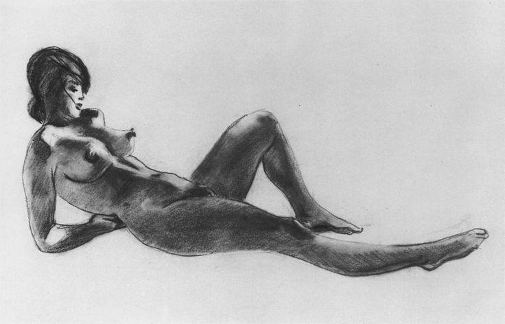 Лежащая натурщица 1953. Александр Дейнека (1899-1969)