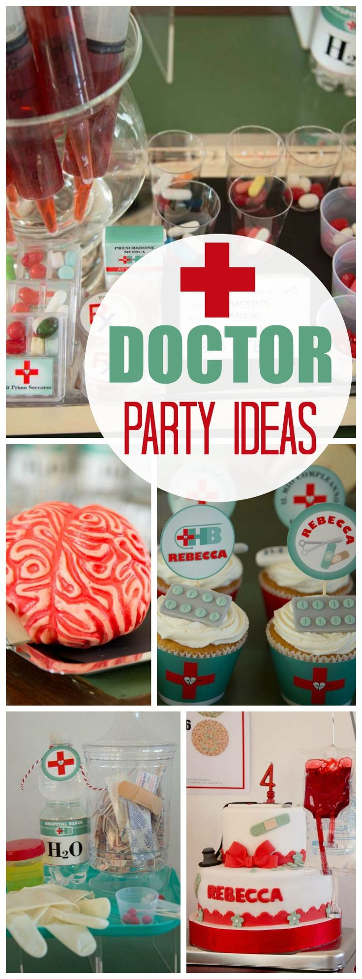 How fun is this amazing doctor party! See more party ideas at CatchMyParty.com!