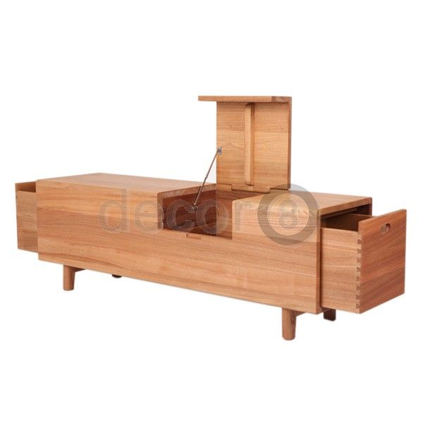 Modern Furniture and Home Decor - Shelving, Storage and Organization - Solid  Elm Wood Furniture - Houston Solid Elm Wood Bench and Multifunctional  Storage ...