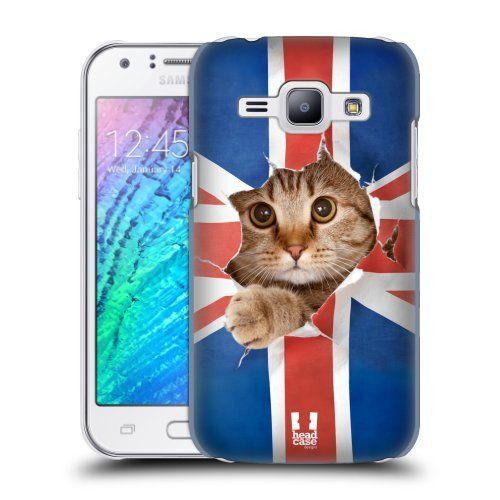 Pouzdro na mobil Samsung Galaxy J1 HEAD CASE KOČKA A VLAJKA