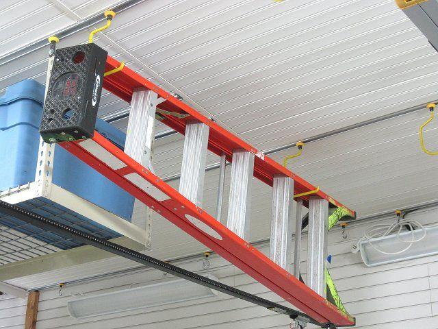 D Hanger Hook With Images Garage Organization Ladder Storage Garage Storage