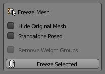 Toolself_Mesh_tools_freeze to export a model into a specific pose
