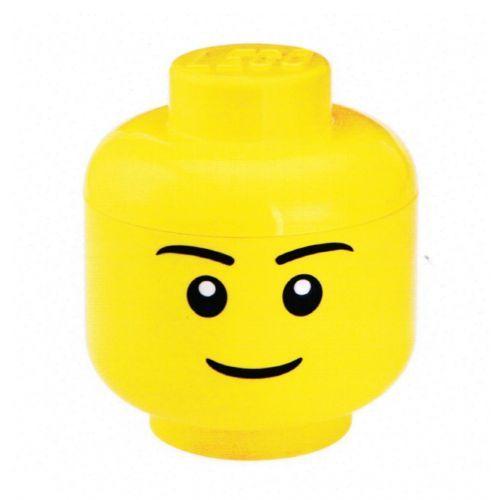 Contenitore Lego testa maschio apribile portatutto - 24x24x27 - storage head lego