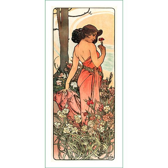 fabric panel - painting by Alphonse Mucha (34)
