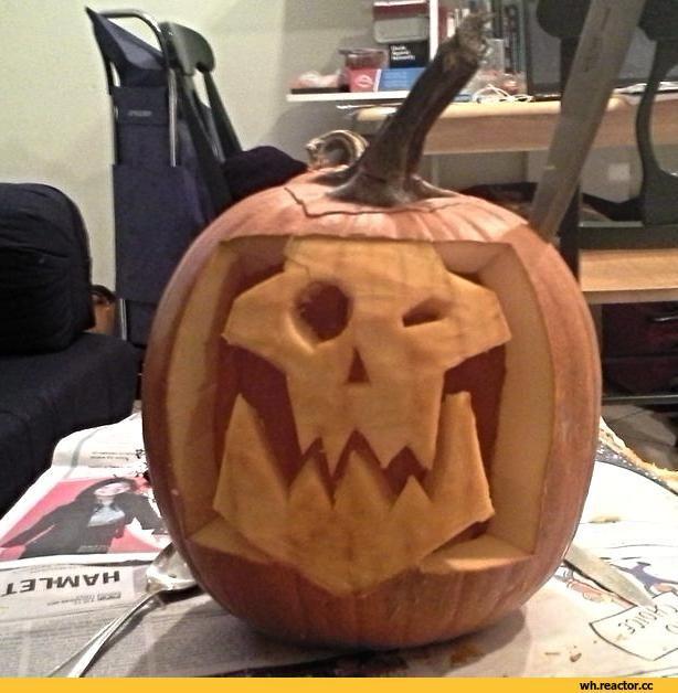 Warhammer 40000,warhammer40000, warhammer40k, warhammer 40k, ваха, сорокотысячник,фэндомы,Wh Other,Orks,Хеллоуин,Halloween -приколы на хеллоуин - прикольные костюмы, тыквы, шутки и юмор про хелоуин,тыква