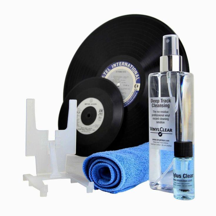Vinyl Clear Record Cleaner LP & Stylus Cleaning Kit Microfibre Vinyl Cloth #VinylClear