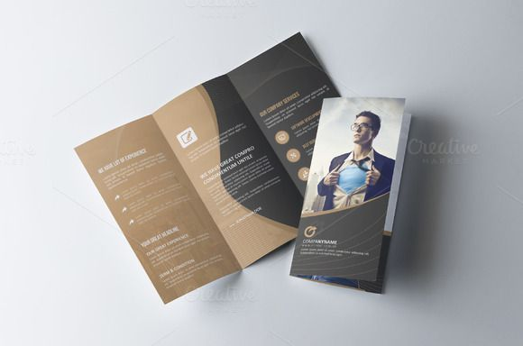 Corporate Tri Fold Brochure by Cristal Pioneer on @creativemarket