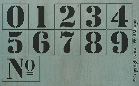 3.5 pollici numero impostato di Stencil