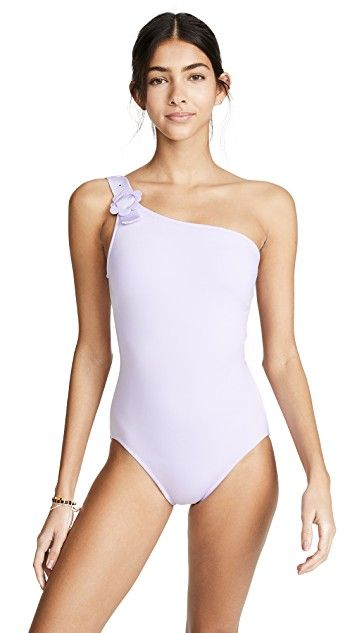 175de80142 Kate Spade New York Daisy Buckle One Shoulder Swimsuit | SHOPBOP SAVE UP TO  25%