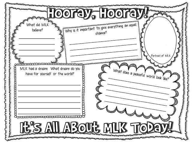 Printables Mlk Worksheets 1000 images about martin luther kingjr worksheet on pinterest free mlk youll find three options ready to download at creekside teacher
