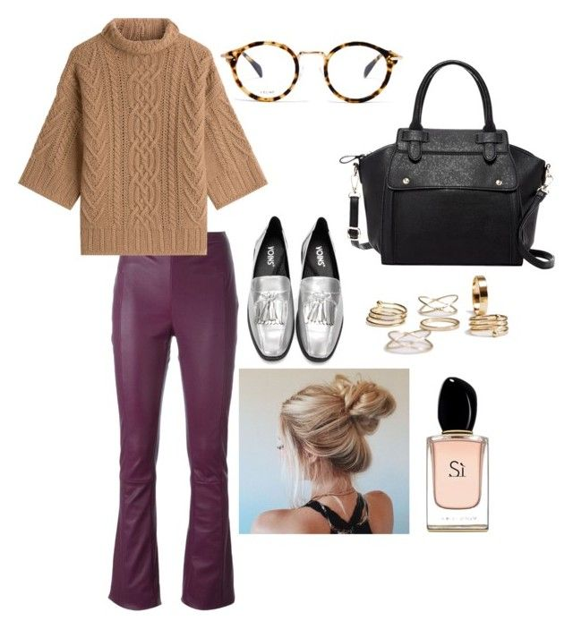 """Untitled #31"" by manjap on Polyvore featuring Drome, MaxMara, CÉLINE, Pink Haley and Armani Beauty"