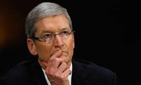 Apple profits drop again but iPhone sales rise Chief executive Tim Cook seeks to assuage market jitters that company has lost its ability to innovate as profits drop