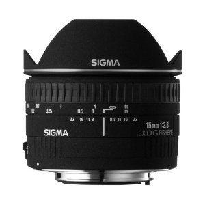 Sigma 15 mm F2,8 EX DG Diagonal Fisheye-Objektiv für Canon