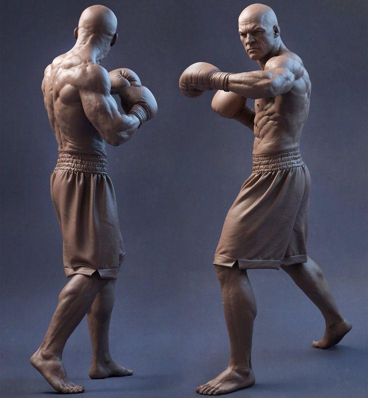 BoxerTurnaround, Sandeep VS on ArtStation at https://www.artstation.com/artwork/boxerturnaround