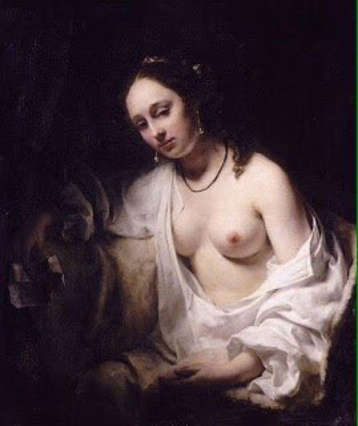 """Willem DROST, 1654, Bethsabée recevant la lettre de David, Louvre NOT """" Rembrandt"""""""
