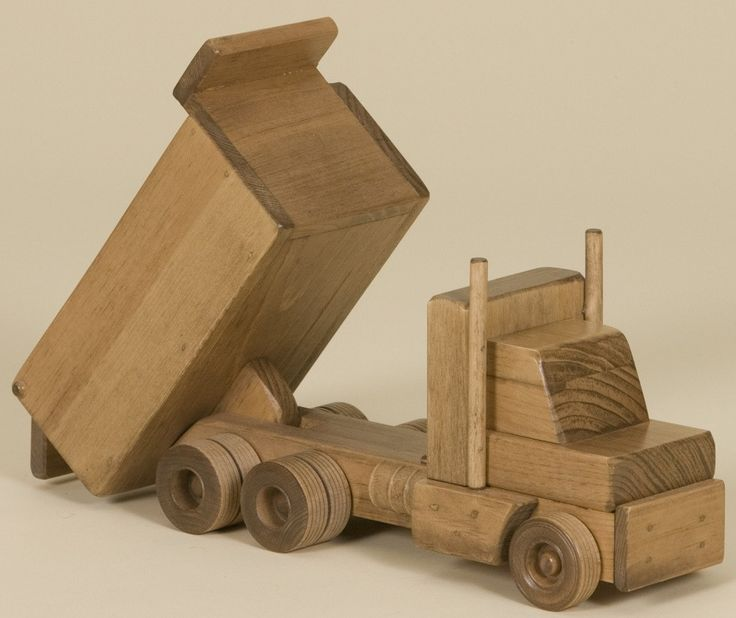 Wooden Construction Toys : Large wood dump truck amish handmade wooden construction