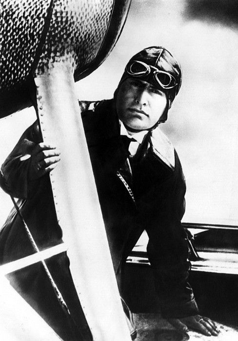 Benito Mussolini (1883-1945), Prime Minister and dictator of Italy from 1922-1943 piloting his tri-motored plane, October 24, 1935. CSU Archives/Courtesy Everett Collection