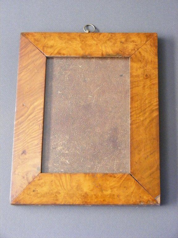 TASMANIAN COLONIAL MUSK PICTURE FRAME. Tasmanian musk picture frame veneered on pine, original old glass,Mid 19th Century. X Chantilly Antiques