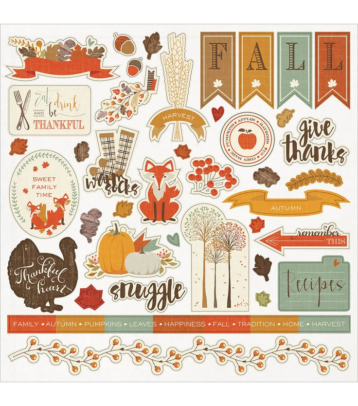 Photo Play Autumn Day Stickers-Element