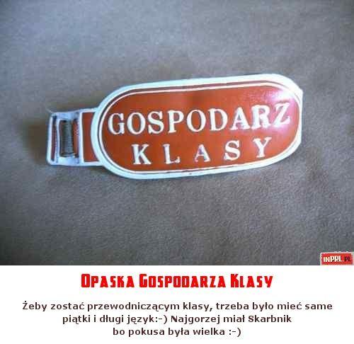 Opaska Gospodarza Klasy < https://de.pinterest.com/Lovemypappies/prl1blast-from-the-past/