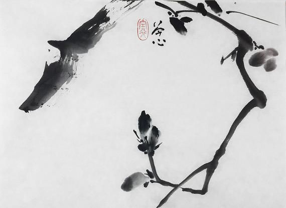 Flower Landscape Abstract Original Chinese Painting Land
