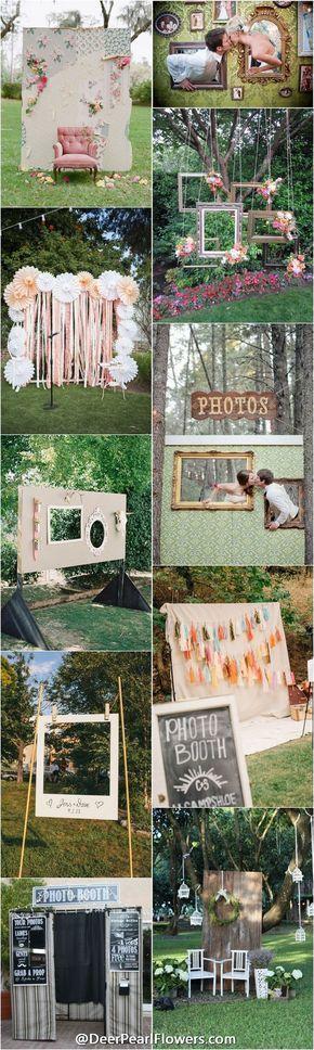 Wedding photobooth ideas / http://www.deerpearlflowers.com/brilliant-wedding-photo-booth-ideas/