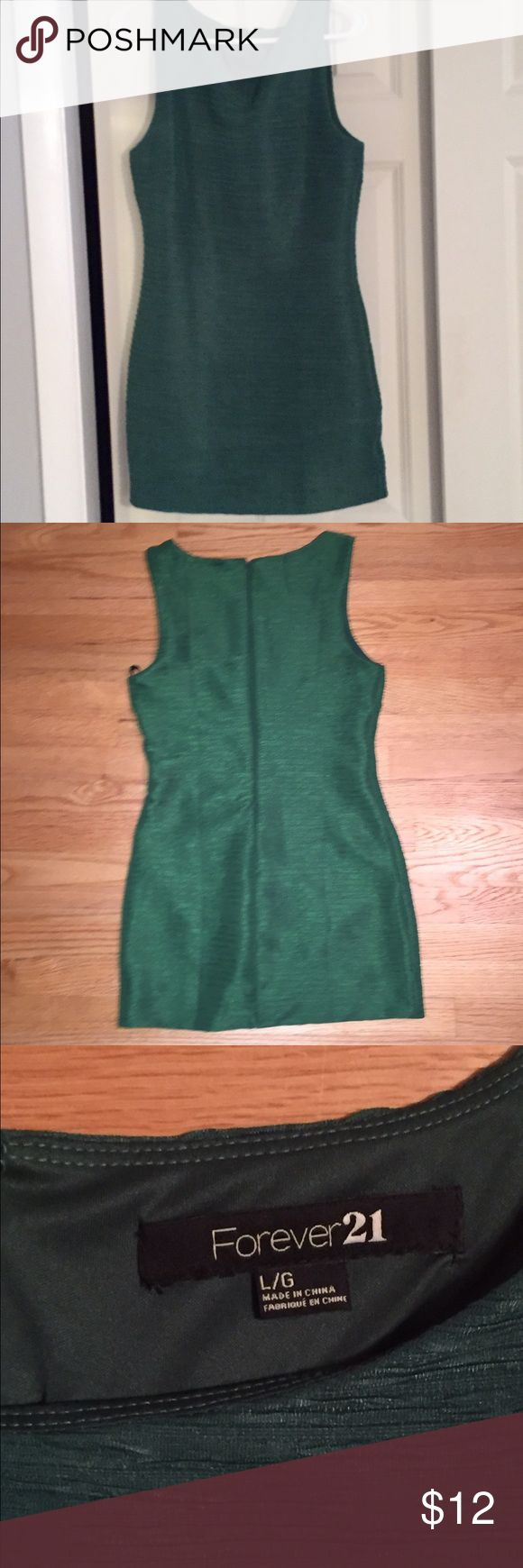 Kelly green dress Forever 21 Kelly green dress. Only worn once and great condition. Size large but fits a bit big Forever 21 Dresses Mini