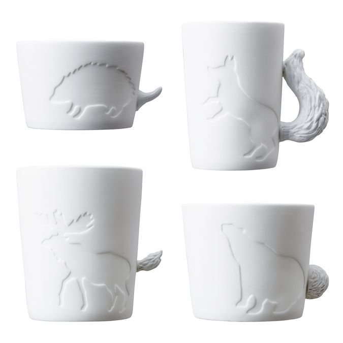 MugTails – Cute Porcelain Mugs With Animal Tail Shaped Handles http://coolpile.com/home-stuff-magazine/mugtails-cute-porcelain-mugs-animal-tail-shaped-handles/ via CoolPile.com   - $15 -   Coffee, Gifts For Her, Gifts For Him, Morning, Mugs