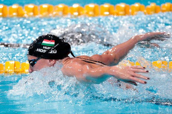 Katinka Hosszu of Hungary competes during the Swimming Women's 200m Butterfly Semifinal on day twelve of the 15th FINA World Championships at Palau Sant Jordi on July 31, 2013 in Barcelona, Spain.