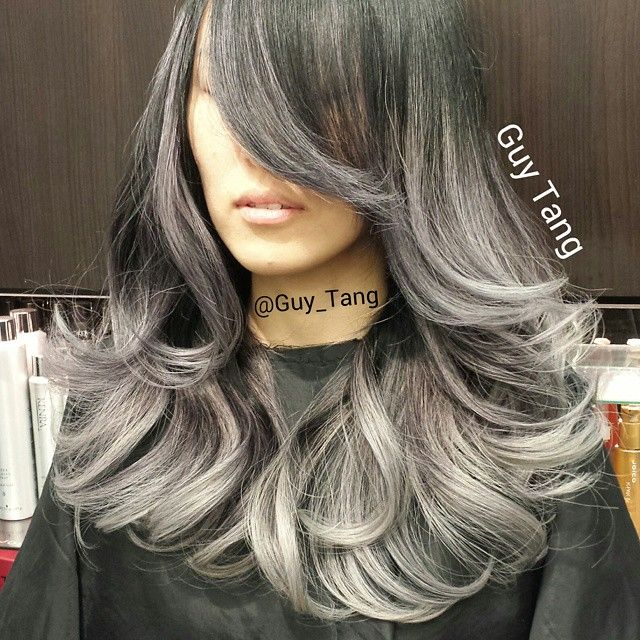 417 Best Images About Chic Silver Grey Charcoal Grey Hair
