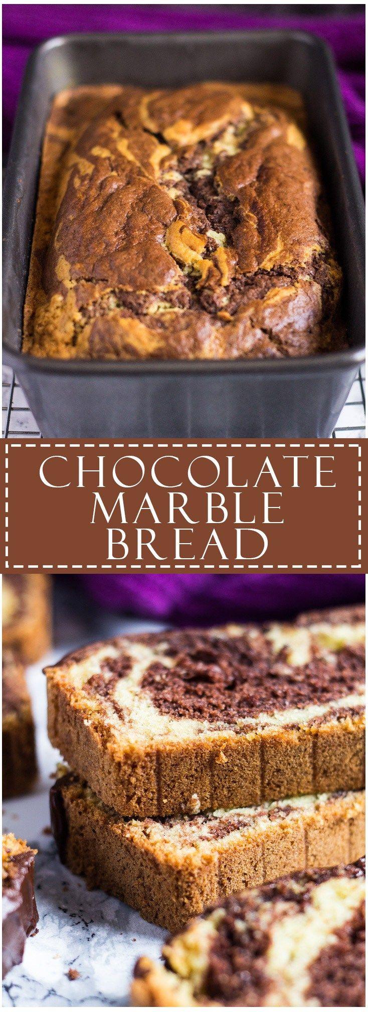 Chocolate Marble Bread   Marsha's Baking Addiction