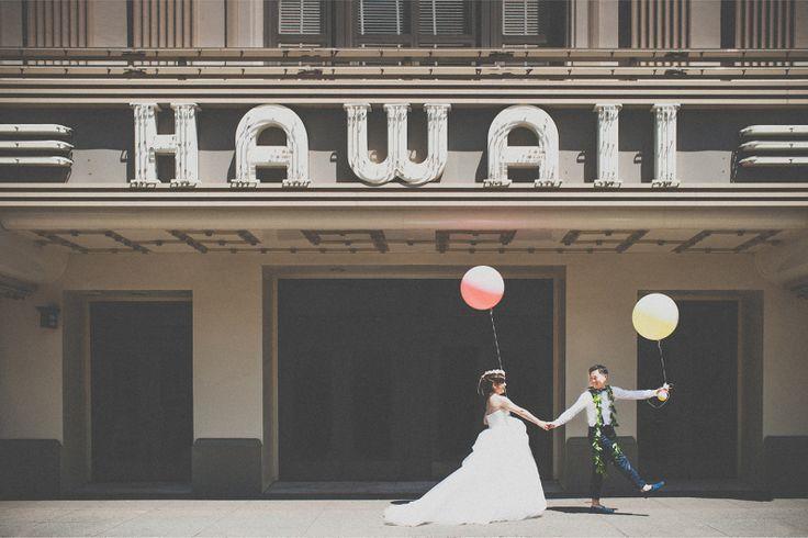 フォトツアー at ダウンタウン〜ハワイシアター|ハワイ☆ウエディングカメラマン
