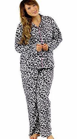 Best Deals Direct Ladies Leopard Print Pyjamas Set Fleece Long Sleeve Pjs Pajamas (Large (16-18), Grey Leopard) Womens Ladies Leopard Print Pyjama Set (Barcode EAN = 5055755959764). http://www.comparestoreprices.co.uk/ladies-pyjamas/best-deals-direct-ladies-leopard-print-pyjamas-set-fleece-long-sleeve-pjs-pajamas-large-16-18--grey-leopard-.asp